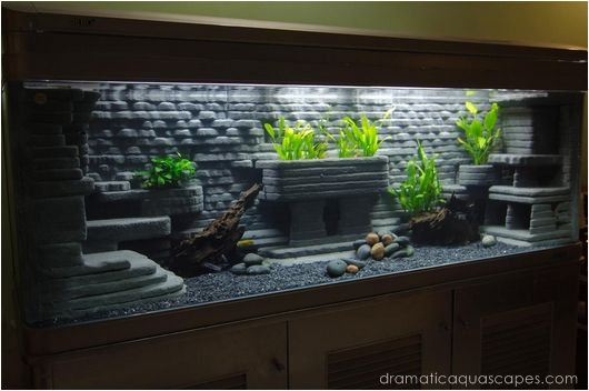 Dramatic aquascapes diy aquarium background all about for Aquarium decoration diy