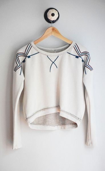 Long sleeve cream cropped sweater. This sweater is amazing and is a must have for your fall and winter wardrobe. Throw it over a sleeveless dress & instantly you have a chic and modest look. Made in USA 66% cotton, 19% polyester, 15% acrylic Handwash Final sale on all sale items. May exchange sizes.