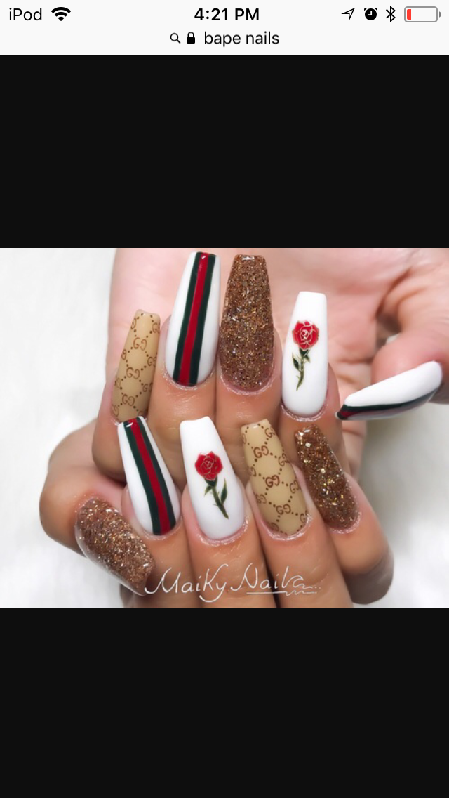 Gucci nails yes please | nails | Pinterest | Gucci, Nail inspo and ...