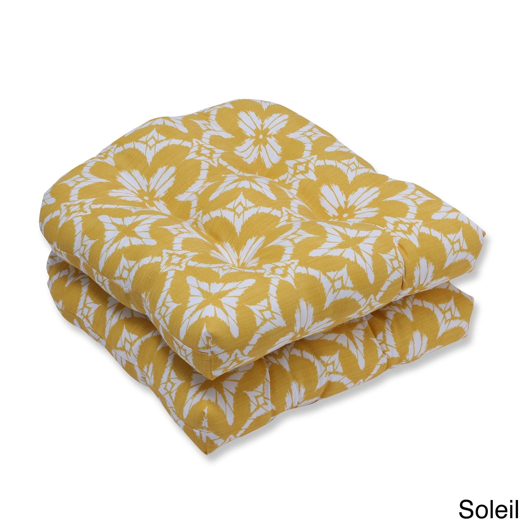 Pillow perfect outdoor indoor aspidoras wicker seat cushion set of