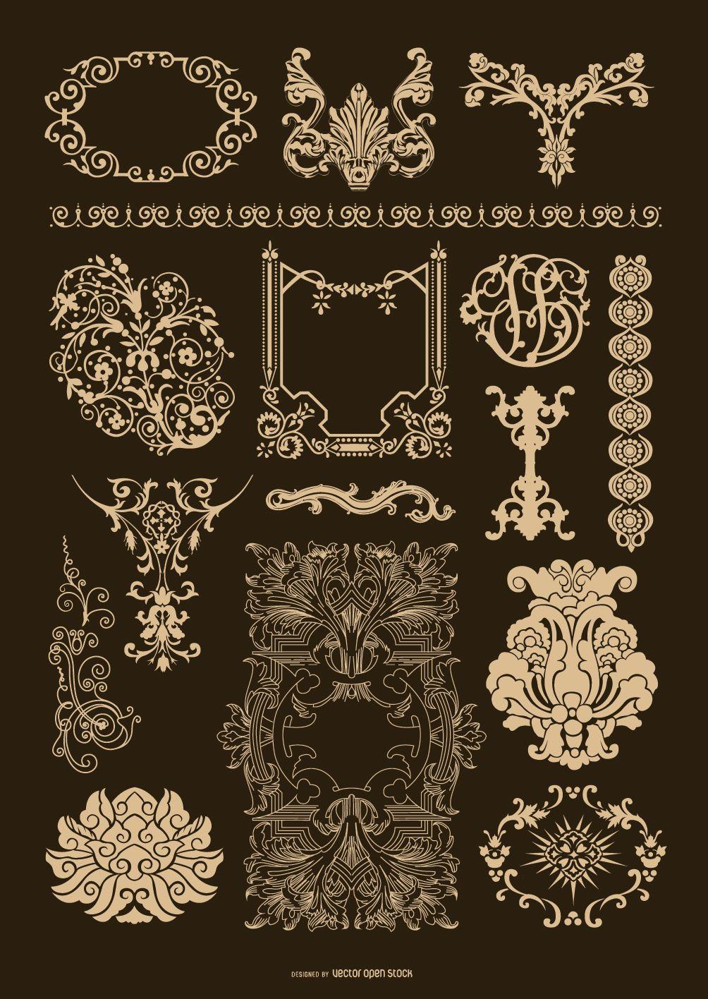 This Set Includes Quite A Few Cool Antique Ornamentation