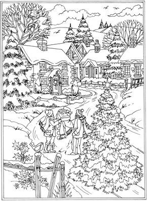 Welcome To Dover Publications From Creative Haven Winter Wonderland Coloring Book Christmas Coloring Pages Coloring Pages Winter Coloring Pages