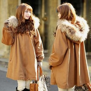 Stay stylish this winter with fur hooded coats.