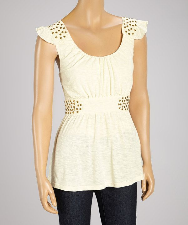 This Sand Studded Angel-Sleeve Top by Aryeh is perfect! #zulilyfinds