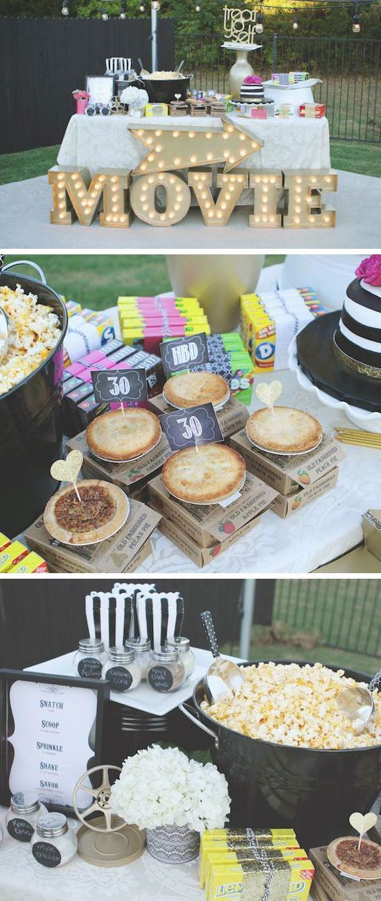 16 Awesome Sweet Sixteen Party Ideas for Girls Outdoor movie