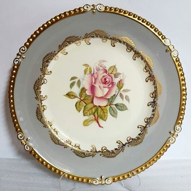 Vintage Aynsley Large Dinner Plate with Pink Rose. & Vintage Aynsley Large Dinner Plate with Pink Rose.   China: Aynsley ...