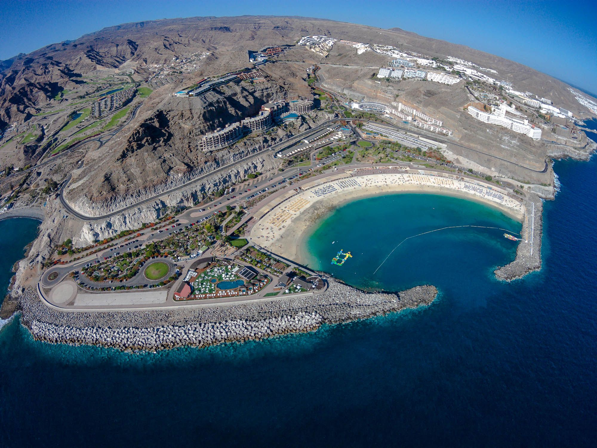 Playa de Amadores | A birds view to Gran Canaria | Beach ...