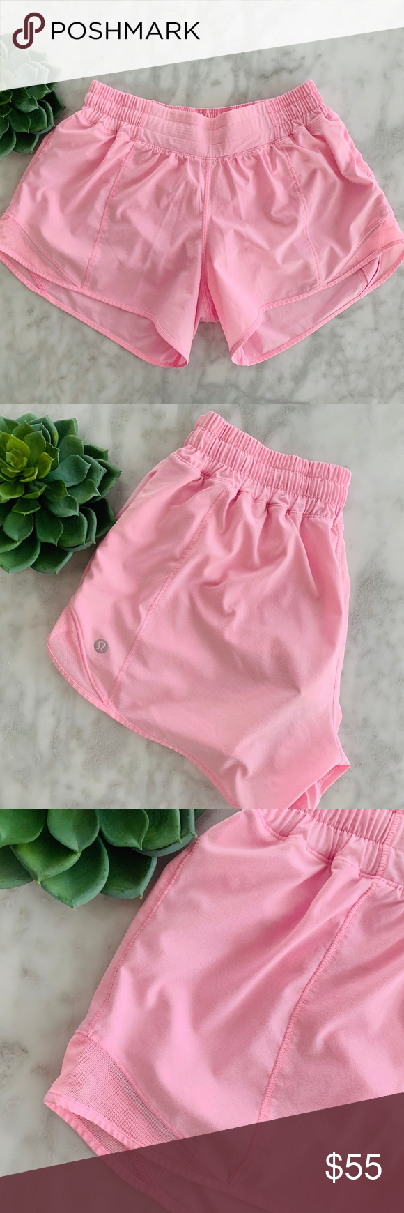 Lululemon Hotty Hot Shorts 6 Miami Pink 6 Max Out Your Stride In These Shorts Designed With Extra Room To Let You Hot Shorts Designer Shorts Gym Shorts Womens