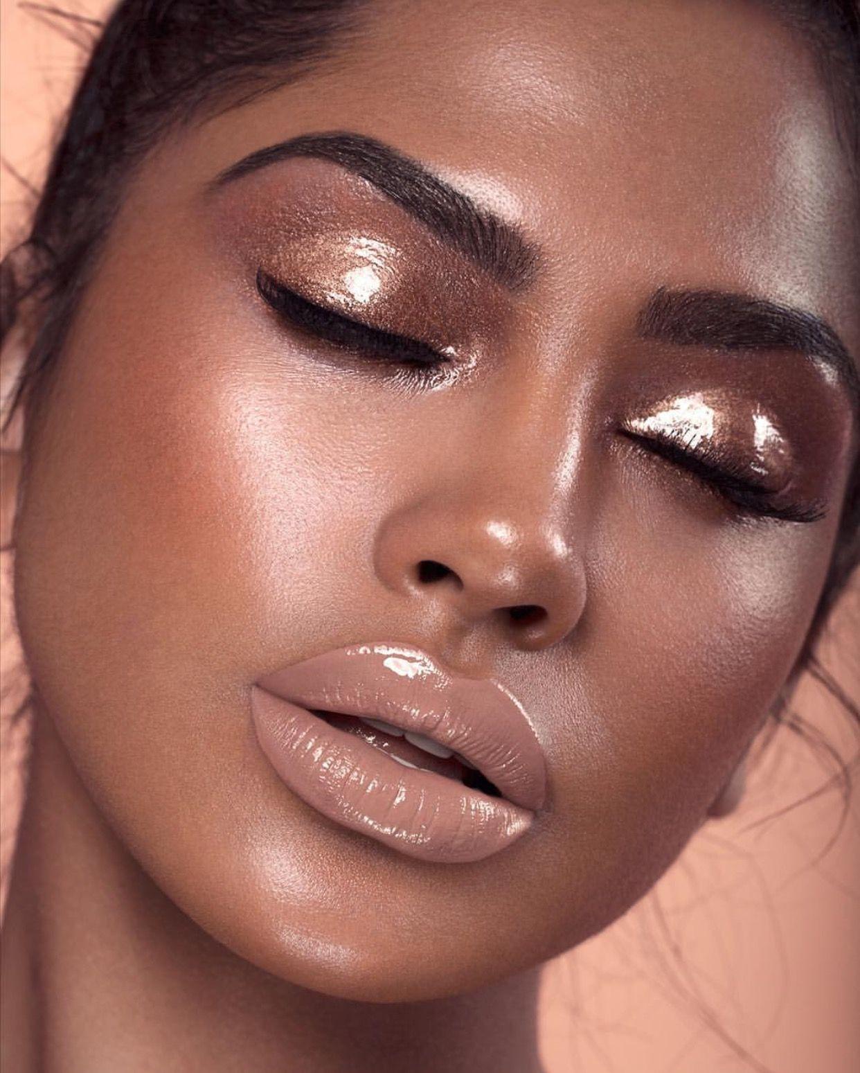 Wet. Glossy. Glam. Makeup Look Eyeshadow trends, Wedding