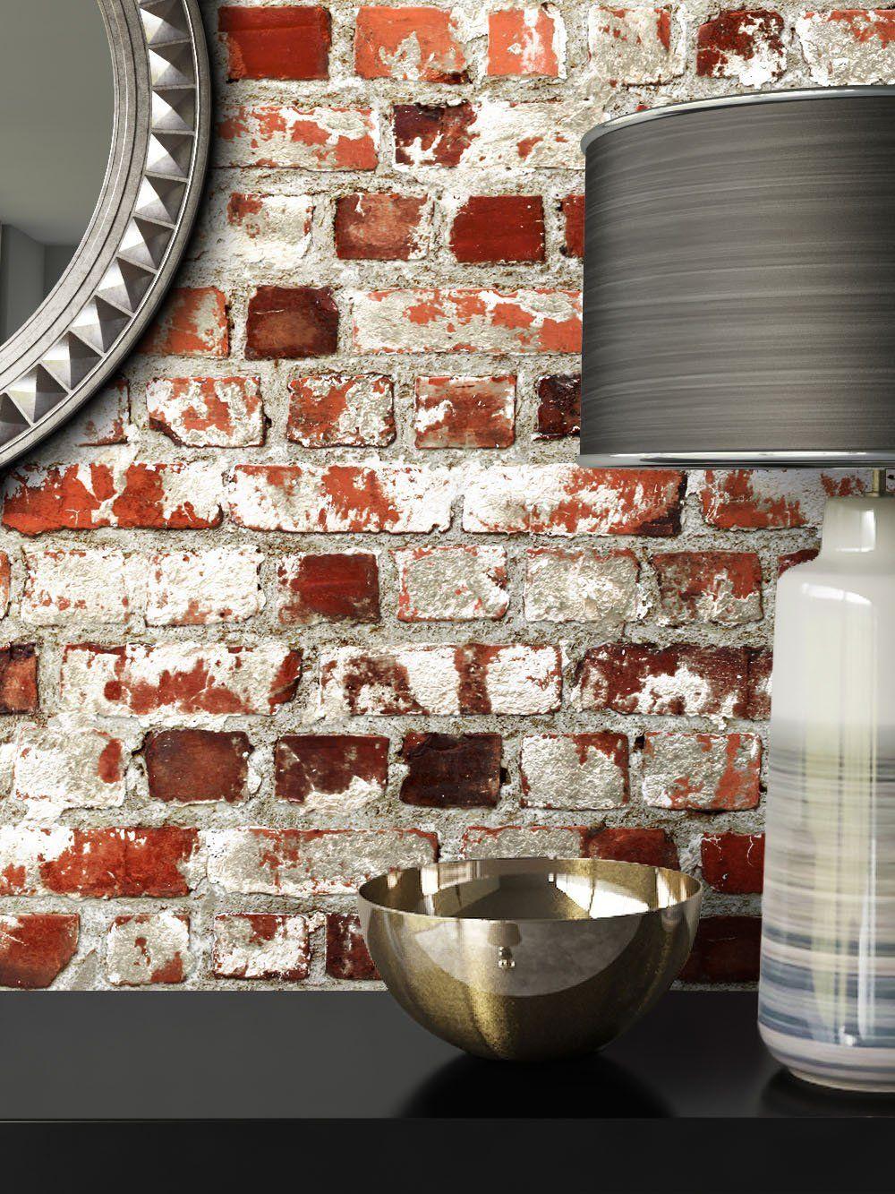 Steintapete Rot Weiß Rustikal Natur Stein Schöne Edle Tapete Im Steinmauer Loft Design Moderne 3d Optik Für Wohnzimmer Sc Edle Tapeten Steintapete Tapeten