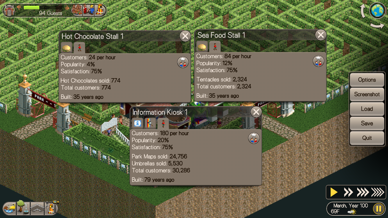 Rollercoaster Tycoon's Largest Hedge Maze Reaches its First Century as Beverley P. Succeeds in reaching Checkpoint One