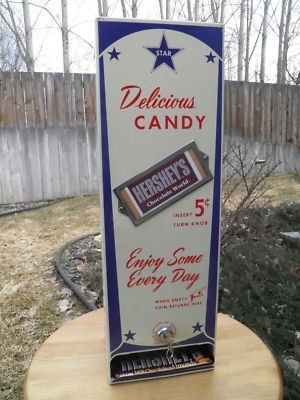 VINTAGE 50's HERSHEY GUMBALL/CANDY VENDING MACHINE.NICE for sale