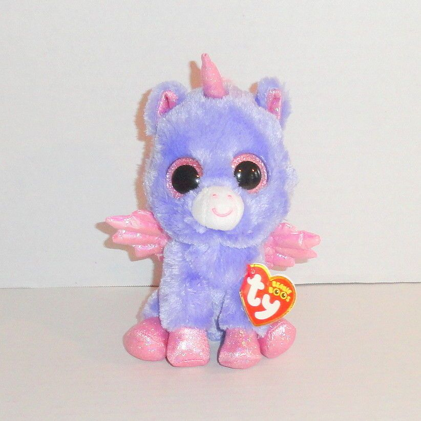 New TY Beanie Boos ATHENA Plush Purple Pegasus Claires Exclusive P72   tybeanieboos  beanieboos  toys db1fc7217ce