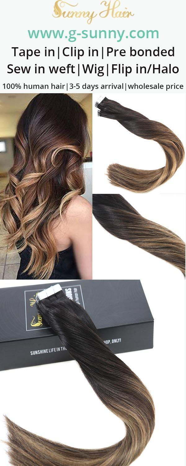 Sunny hair remy human hair tape in human hair extensions easy