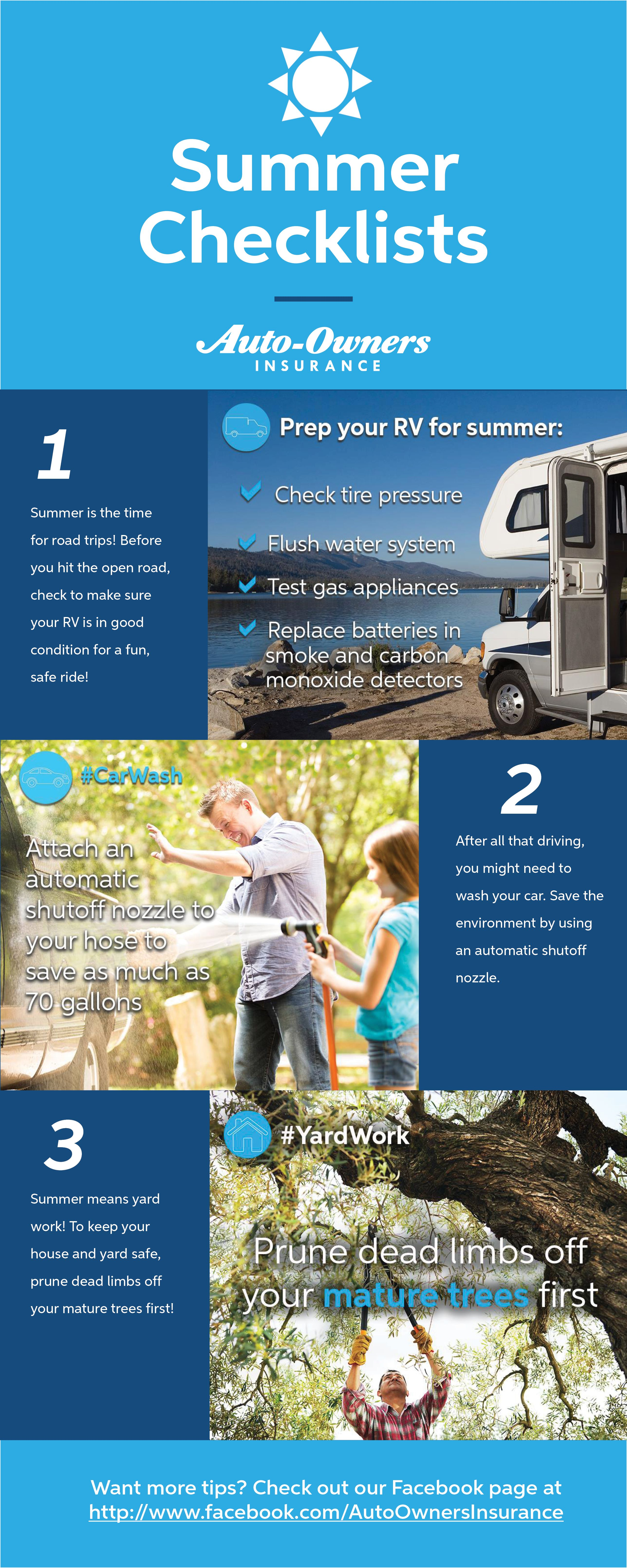 Summer is here! Here's some summer checklists and tips to