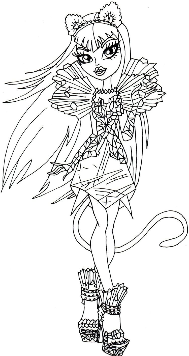 Monster High Coloring Pages Catty Noir Monster Coloring Pages Coloring Pages Coloring Books