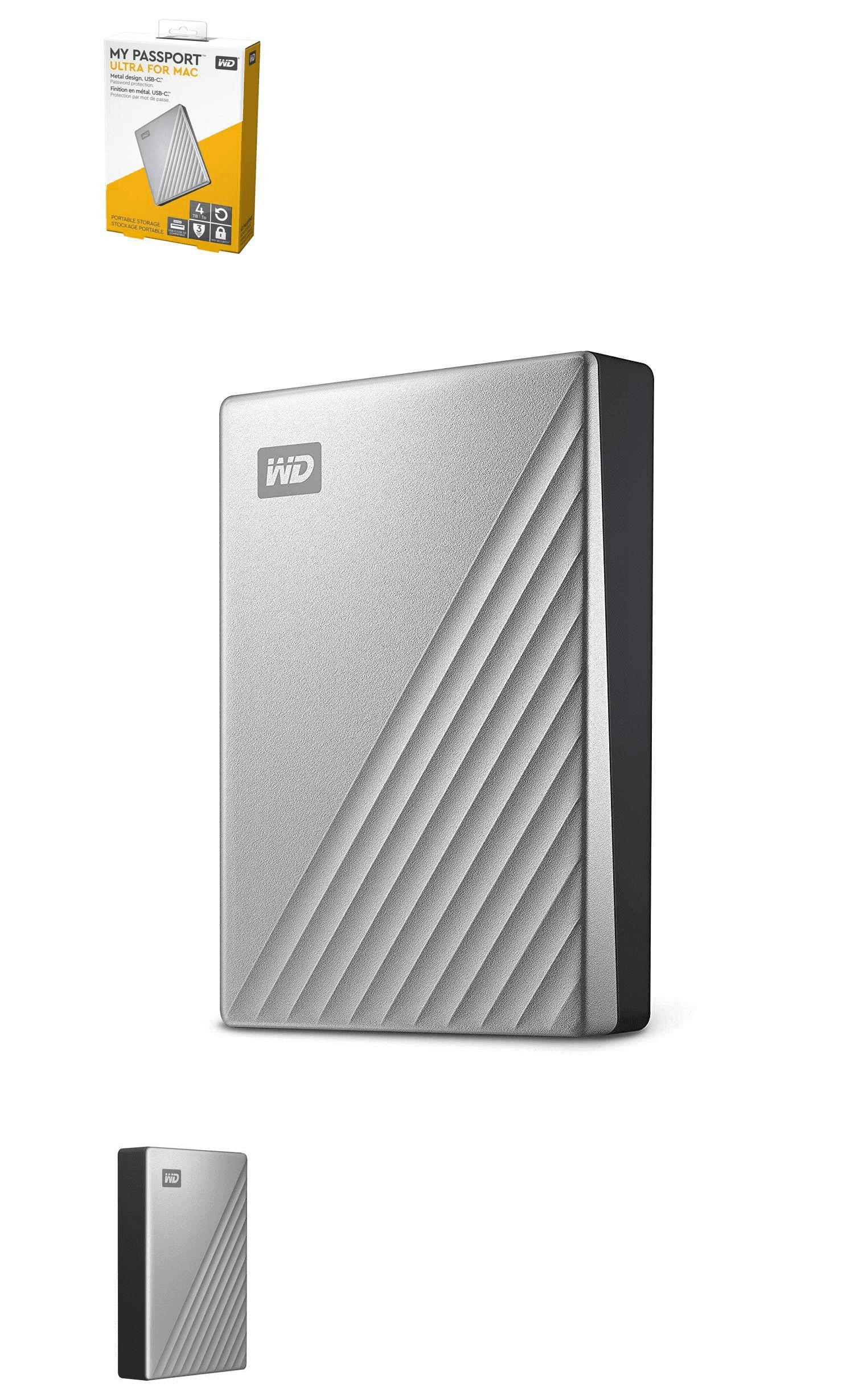 Other Hard Drives 175670 New Wd My Passport Ultra For Mac 4tb External Usb 3 Type C Portable Hard Drive Buy It No Portable Hard Drives Hard Drive Driving