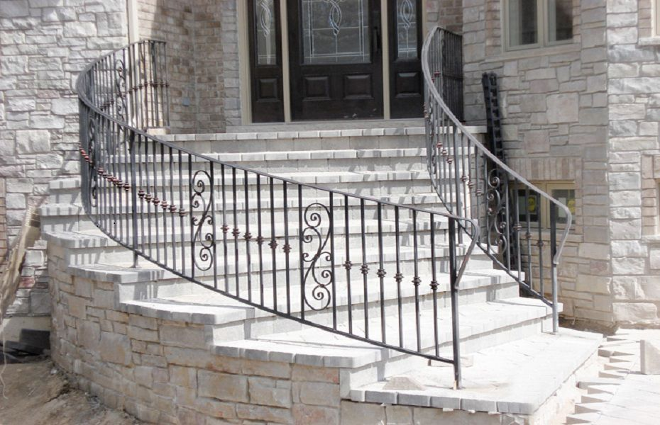 Best Ornamental Curved Metal Railing Custom Railing Railing 400 x 300