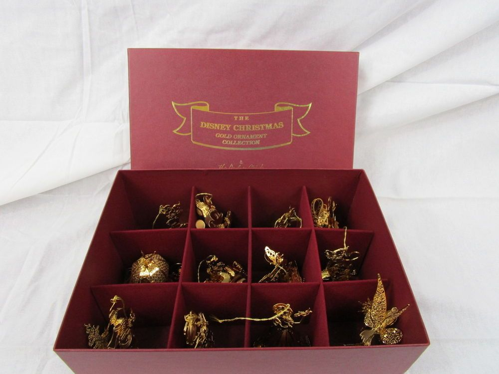 The DisneyDanbury Mint Christmas Gold plated Ornament collection