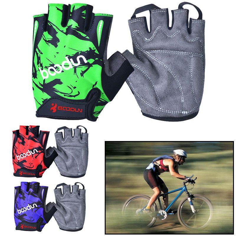 Antiskid Shock-Absorbing Foam Pad Breathable Cycling Half Finger Gloves Sport #Unbranded #HalfFingerFingerless