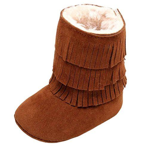 MosunxTM Baby Keep Warm Doubledeck Tassels Soft Snow Boots Soft Crib Shoes 612 Month Brown -- See this great product.Note:It is affiliate link to Amazon.