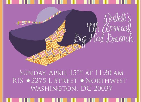 Big Hat Brunch INVITATION ONLY Bridal Shower Baby Shower