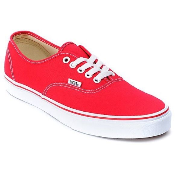 Vans authentic red, Red vans shoes