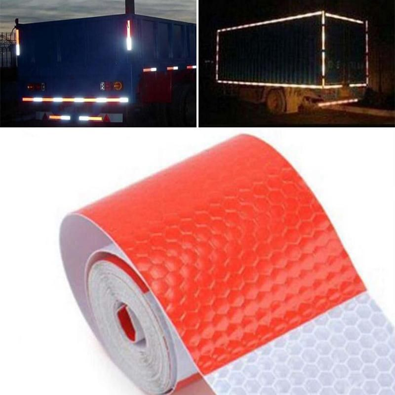 5cm X 3m Safety Reflective Warning Conspicuity Tape Film Sticker Red And White Reflective Tape Sheeting Styli Exterior Accessories Reflective Tape Car Stickers