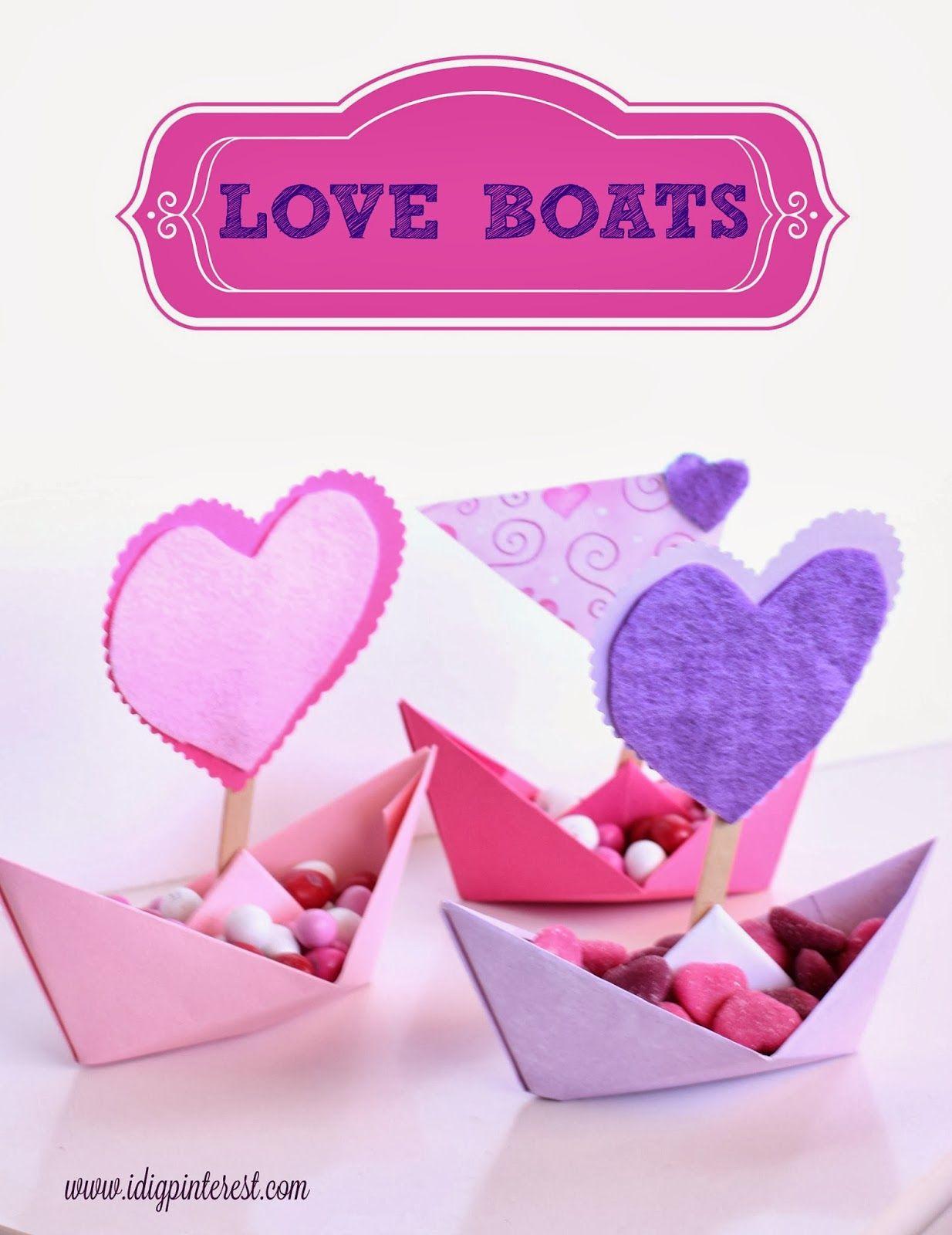 Love Boats Valentine S Day Kids Craft