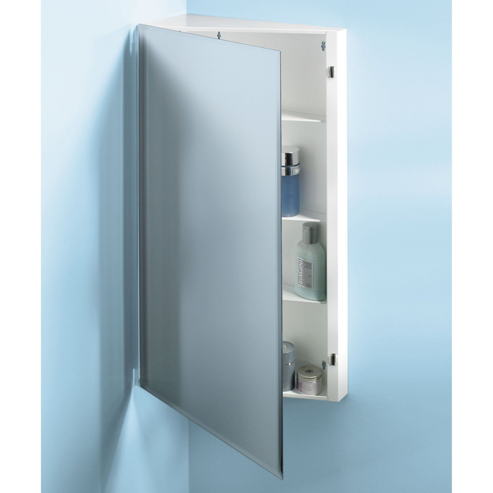 Jensen Medicine Cabinet Frameless 16w X 36h In Corner Medicine Cabinet 867p36wh Corner Medicine Cabinet Surface Mount Medicine Cabinet Single Doors