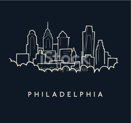 Philadelphia Skyline Sketch Vector Id180228913 427 402 Philadelphia Skyline Skyline Tattoo Skyline Drawing