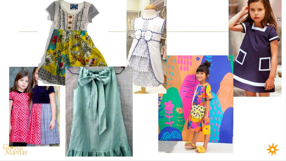 Little Girl's dresses inspiration! #GlobalMamas #FairTradeFashion #Ghana