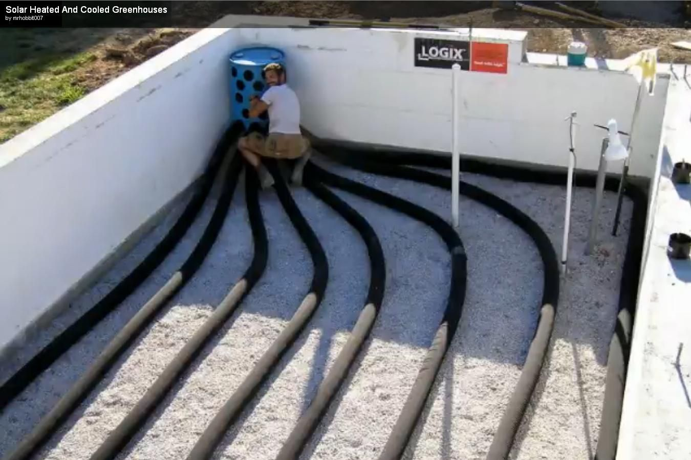 Subterranean Heating Cooling System Greenhouses Garden