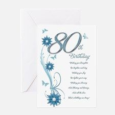 80th birthday in teal greeting card for 80 bday party 80th birthday in teal greeting card for bookmarktalkfo Choice Image