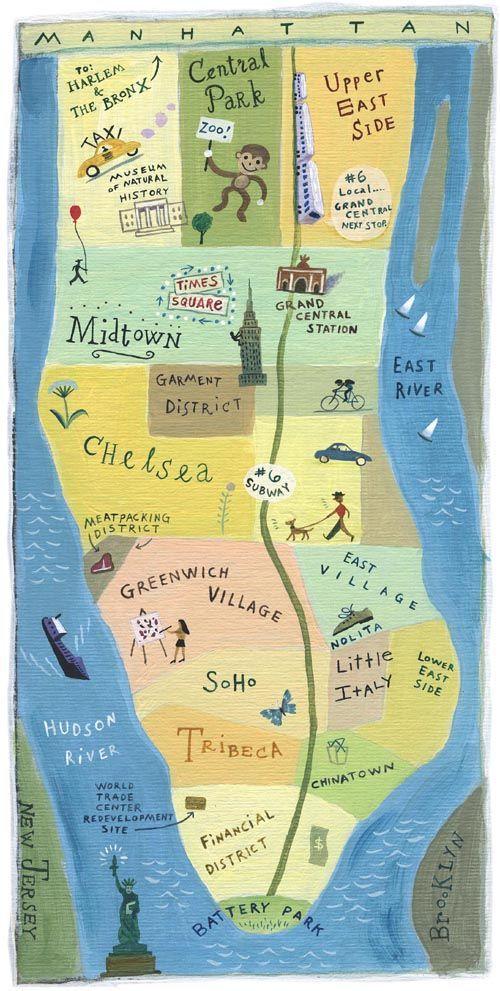 John S. Dykes - Manhattan map
