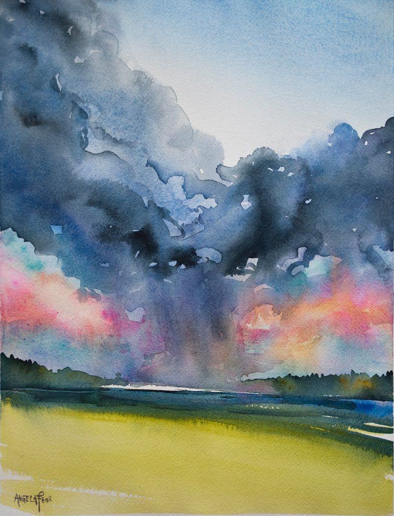 Painting A Sky Can Be A Great Way To Practice Your Wet In Wet