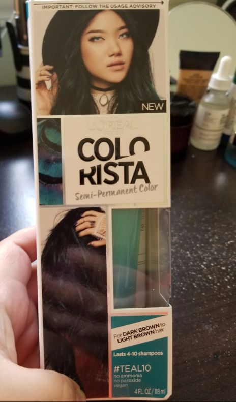 Process And Review L Oreal Colorista Semi Permanent For Brunette
