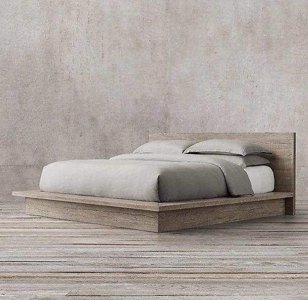 Best Reclaimed Russian Oak Platform Bed 640 x 480