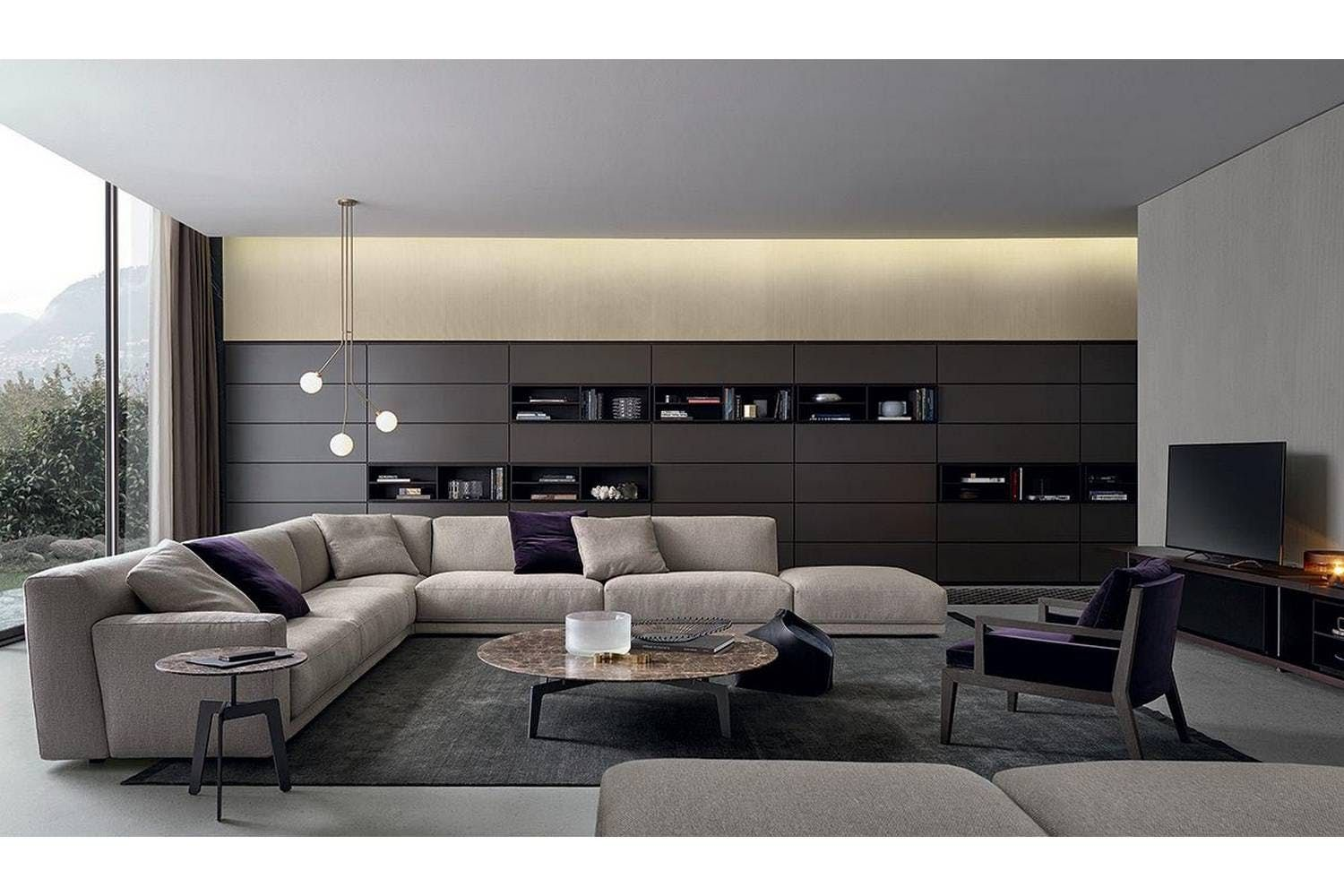 Wall System Bookcase by CR&S Poliform for Poliform | Bedroom ideas ...