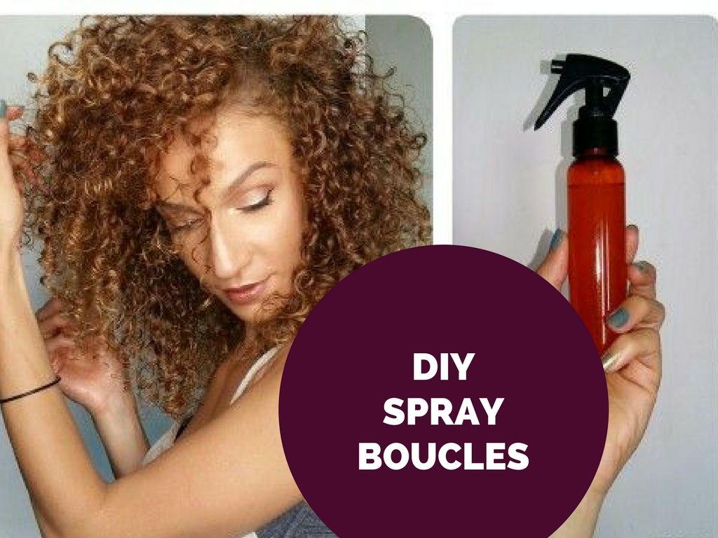 Spray cheveux boucles diy