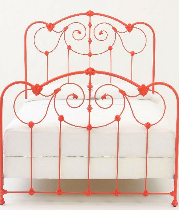 Tangerine Wrought Iron Bed I Think I Would Go More Orange Less Red
