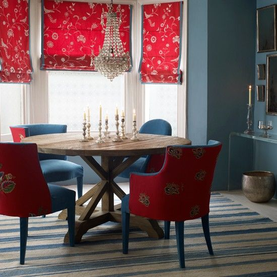 Great Red Dining Chairs · Love This   Calming But Invigorating Colours. Earthy  Table With Comfy Chairs. I Would Images