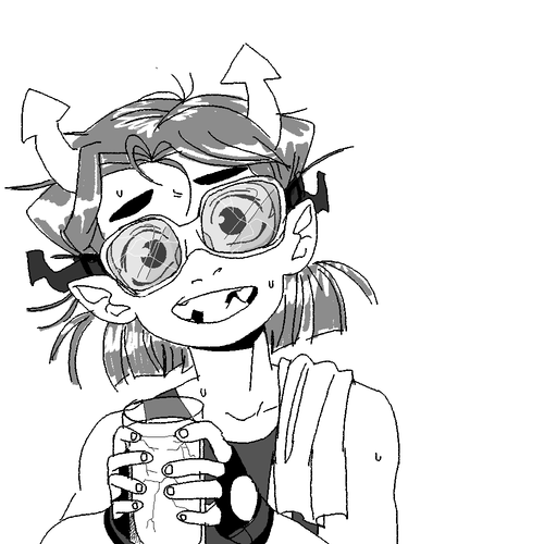 Equius would be such a weird and nerdy kid. And adorable. Just look at that face.