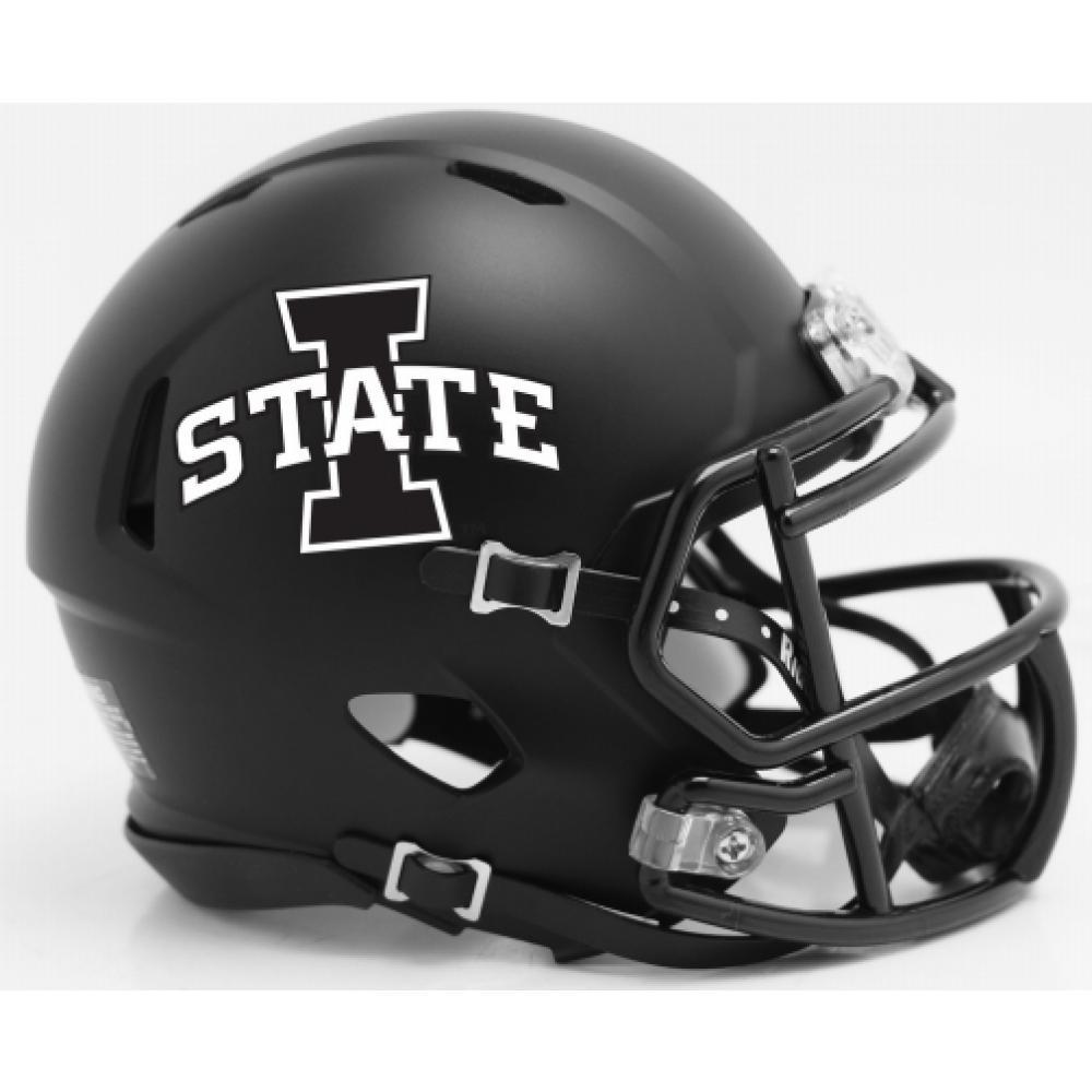 New Release 2018 Riddell Iowastate Cyclones Satin Black Speed Mini Helmet Iowastatecyclones Cyclonenation Iowa State Cyclones Helmet Mini Football Helmet