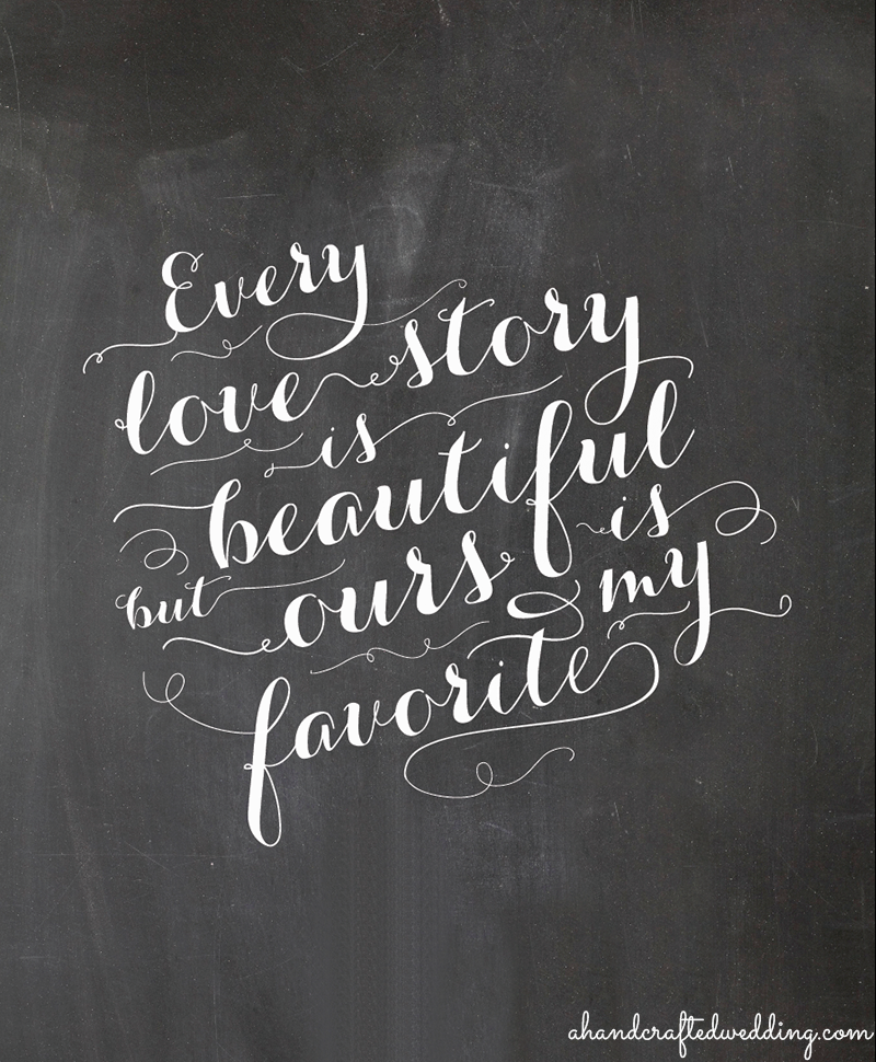 Free Love Quotes: FREE Chalkboard Love Quote Printable