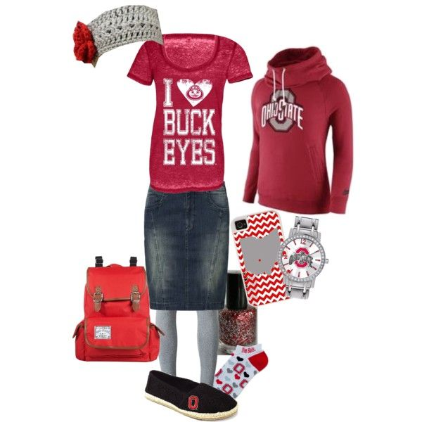 Ohio State Buckeyes Ladies Ensemble by jalisajoy on Polyvore featuring T By Alexander Wang, Soyaconcept, For Bare Feet and CellPowerCases