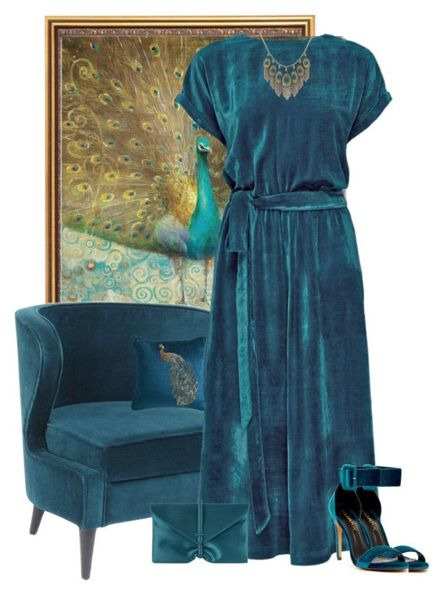 """""""Teal Velvet"""" by kimzarad1 ❤ liked on Polyvore featuring Trademark Fine Art, Lattori, Liliana, Pier 1 Imports, VBH and Lucky Brand"""