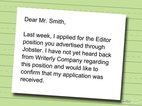 Write A Follow Up Email For A Job Application  College Graduation