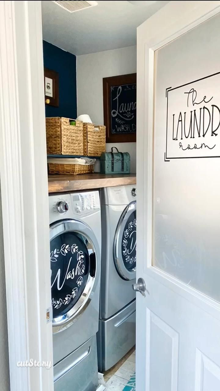 Adding decals to the washer and dryer