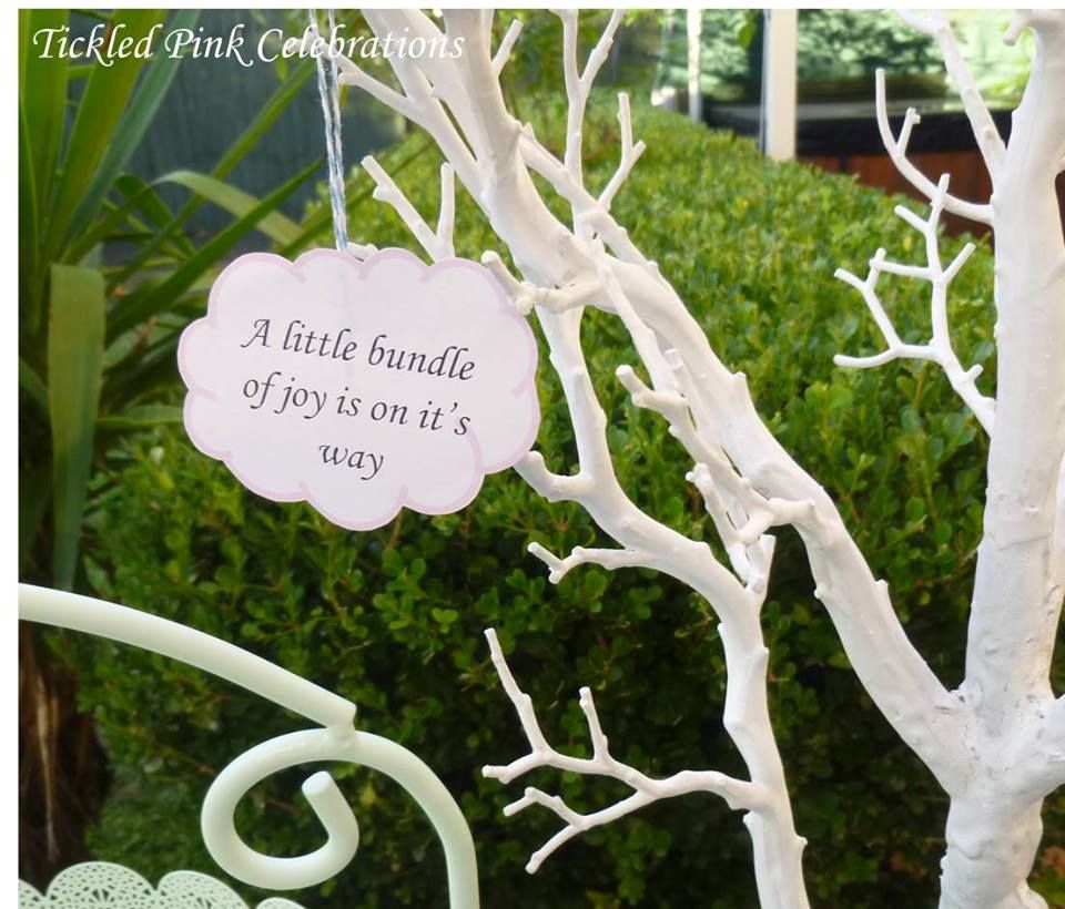 Enchanted Garden Baby Shower decoration, little bundle on the way ...